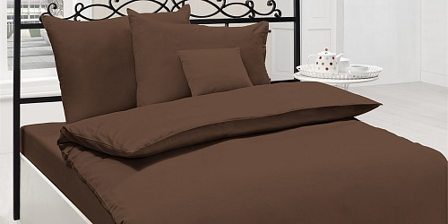 bedding Brown cotton satin