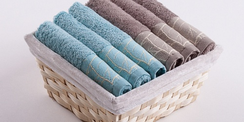 Towel Basket Beta 6pcs azure-light brown