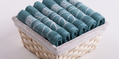 Towel Basket Dove 6pcs mint