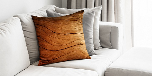 Decorative Pillowcase Wood