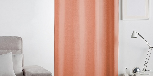 Unicolour Curtain Lilien Brick Orange