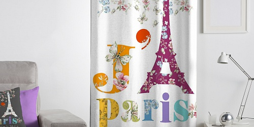 Decorative curtain Paris Joli