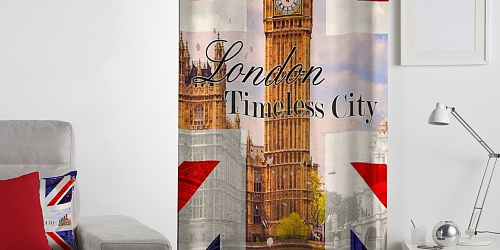 Decorative curtain Timeless London