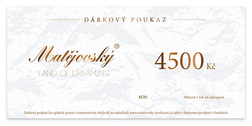 E-Gift Voucher for 4500 CZK