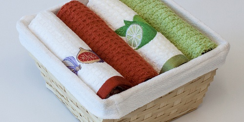 Basket with towels Figs - Lime