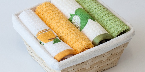 Basket with towels Mint tea - Lime