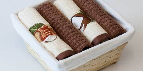 Basket with towels Nut - Coconut