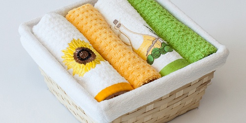 Basket with towels Sunflower - Oil