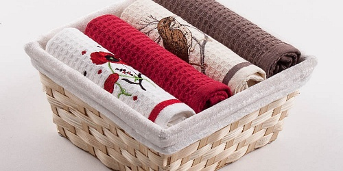 Basket with towels Poppies - Bird