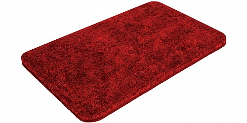 Bath mat SOFT red