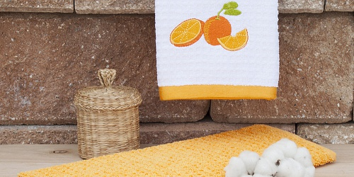 Kitchen towels Mandarine