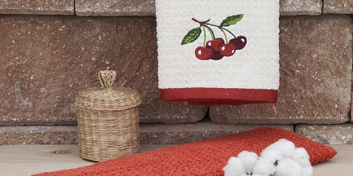 Kitchen towels Cherry Beige