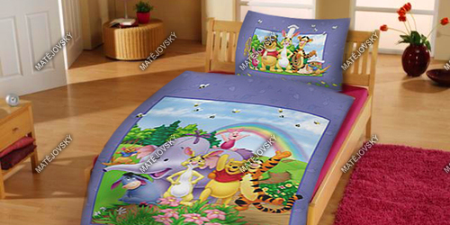 Bedding Winnie the Pooh and rainbow