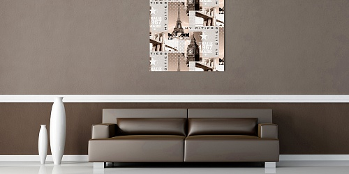Canvas Print My cities