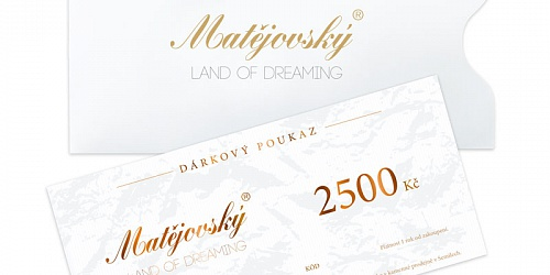 Gift Voucher for 2500 CZK
