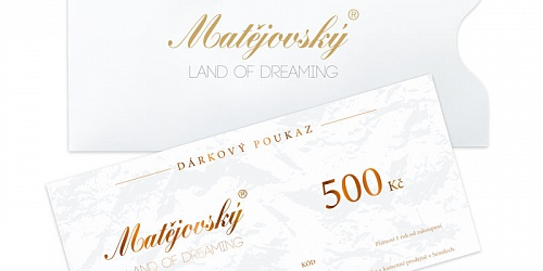 Gift Voucher for 500 CZK
