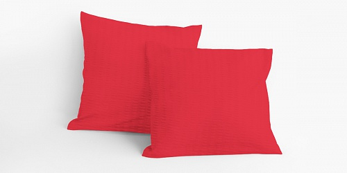 Pillowcase Red Crepe