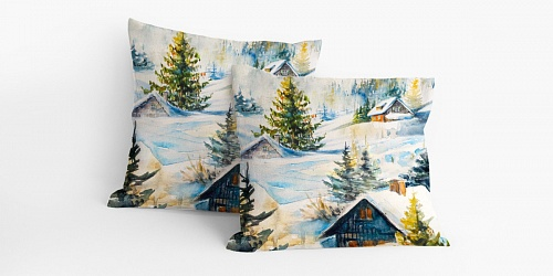Pillowcase Little Cottages