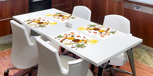 Placemat Giraffe Love