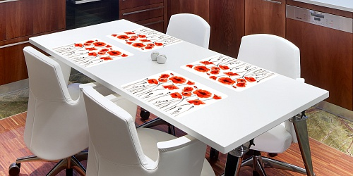 Placemat Poppies