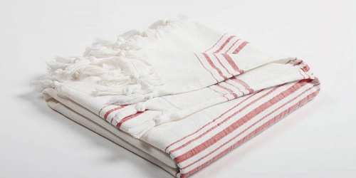Sauna Towel Sauna Towel white/red