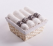 Towel Basket Luxor 4 pcs cream