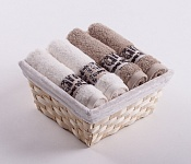 Towel Basket Luxor 4 pcs cream and beige