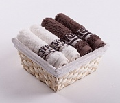 Towel Basket Luxor 4 pcs cream and light brown