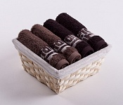Towel Basket Luxor 4 pcs light and dark brown