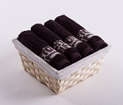 Towel Basket Luxor 4 pcs dark brown