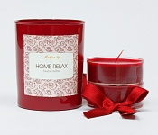 Tealights with a holder - red