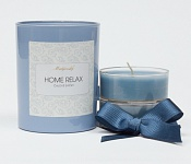 Tealights with a holder - light blue