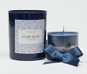 Tealights with a holder - dark blue
