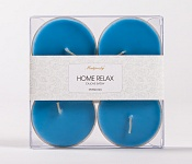 Tealights 4 pcs light blue