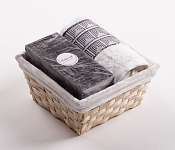 Towel Basket Aida white - black candle