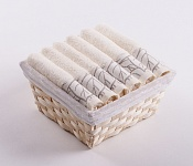 Towel Basket Beta 6pcs cream