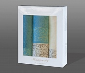 Towel Gift Box Beta 4pcs cream-azure