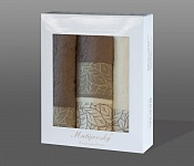 Towel Gift Box Beta 4pcs cream-light brown
