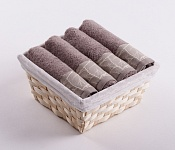 Towel Basket Beta 4pcs light brown