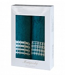Towel Gift Box Briana 2 pcs petrol