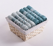 Towel Basket Dove 6pcs