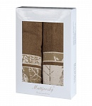 Towel Gift Box Dove 2pcs brown