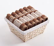 Towel Basket Dove 6pcs brown
