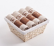 Towel Basket Dove 4pcs cream