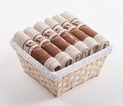 Towel Basket Dove 6pcs cream