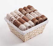 Towel Basket Dove 6pcs cream and brown