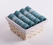 Towel Basket Dove 4pcs mint