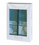 Gift wrapping towels Dove 2 pcs dark mint