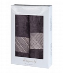 Gift wrapping towels Elegant 2pcs anthracite