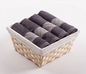 Towel Basket Elegant 4pcs anthracite